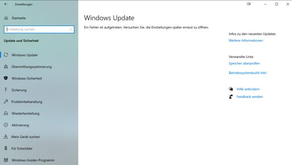 Windows Update funktioniert nicht richtig?