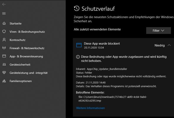 Microsoft Defender Bedrohung gefunden, was tun?