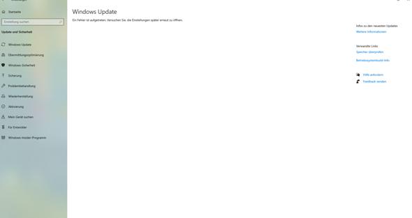 Wie aktualisiere ich Windows (Fehler aufgetreten)?