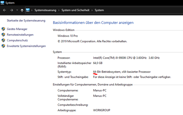 Windows 64-Bit funktioniert nicht?