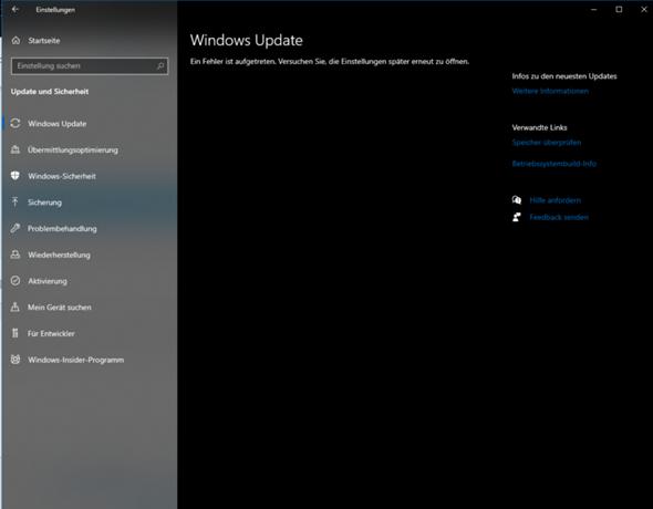 Windows Update wird nicht angezeigt?