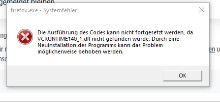 Firefox wird nicht installiert wegen eines Fehlercodes?