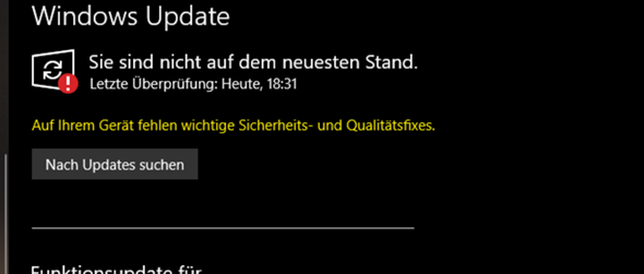 Windows 10 kann nicht updaten?