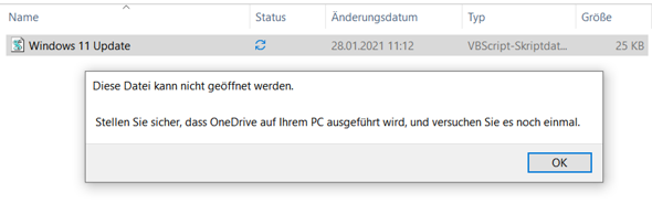 Warum hindert mich Windows 10 diese Datei zu öffnen?