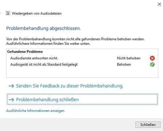 Kein Sound am Laptop Windows 10?