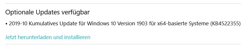 Optionale Updates installieren?