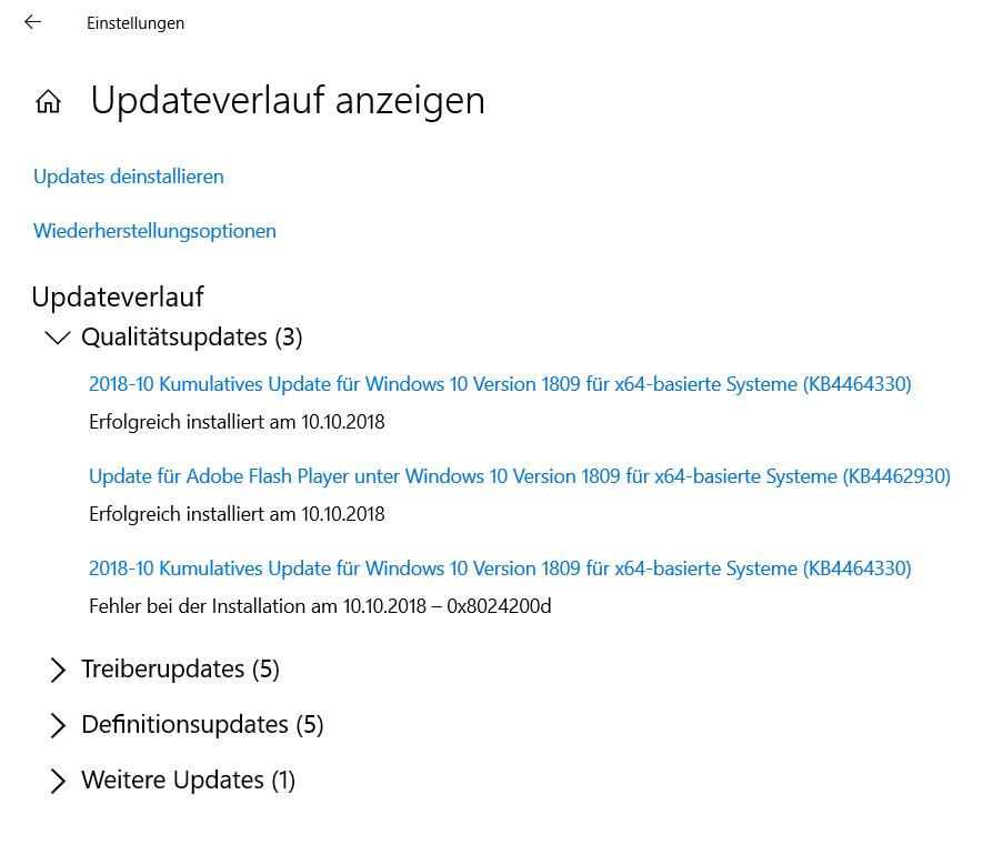 Bekomme Windows 10 nicht mehr installiert
