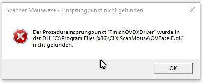 Seit dem letzten grossen Update Windows 10 kann ich die CLX Scanner Mouse nicht mehr...