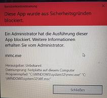 Defender Firewall wird blockiert