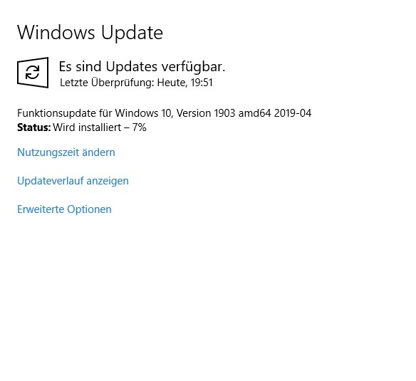 Windows Update für AMD 1903 in Dauerschleife