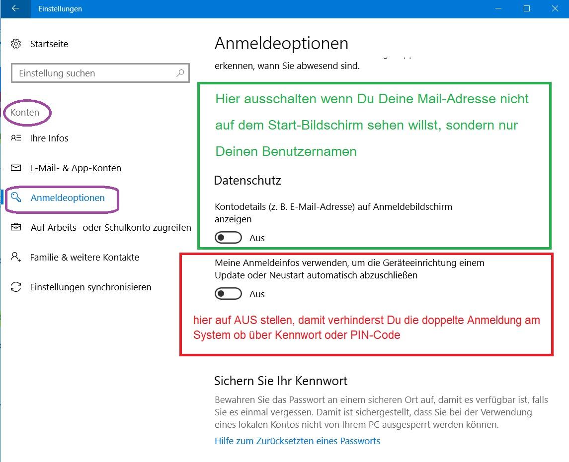 Windows verlangt beim Start doppelte Anmeldung