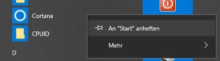 Windows Startmenü Suche und Cortana funktionieren auch nach Neuinstallation von Windows 10...