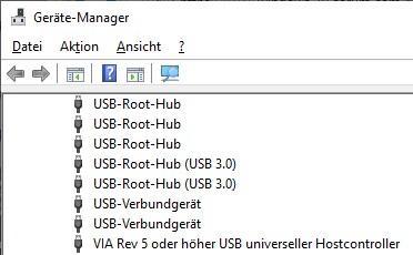 Gerätemanager hat USB Schnittschnelle falsch konfiguriert