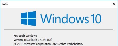 Frage: Problem mit dem Update. 2018-04 kumulatives update für windows 10 version 1607 für...