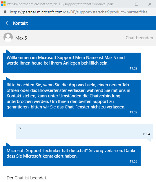 Microsoft Partner Network - Newsletter abbestellen