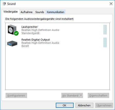 Windows 10 Realtek Audio erkennt Headset und Lautsprecher nur als ein Gerät