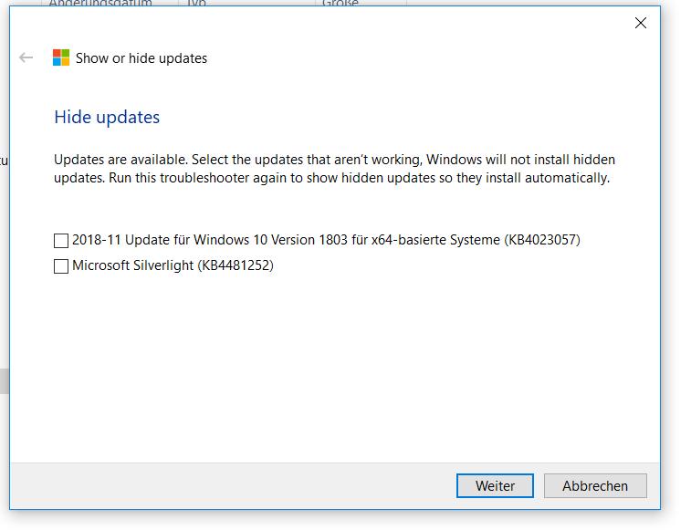Heute kam W10-Update KB 4023057 (schon wieder!) - kommt Fehler! Wie verfahre ich damit?