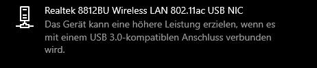 USB 3 Gerät wird an USB 3 nicht richtig erkannt.