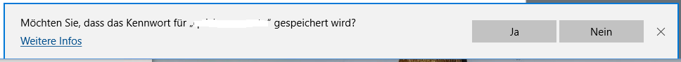 """Passwort speichern: Ja, Nein, Doch! Wie kann ich das """"Nein"""" widerrufen?"""