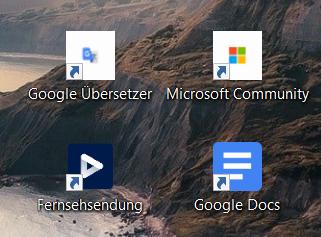 Desktop-Symbole für Internetseiten sind in alter, kleiner Version - Wie alte Symbole löschen?