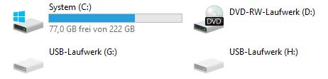 Unbekannte USB-Laufwerke im Explorer