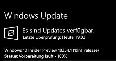Build 18334.1 Fastring steht zum Download bereit