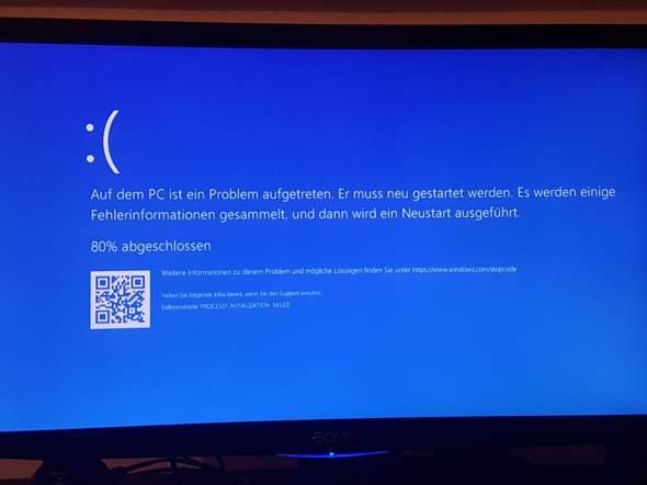 Windows 10  Fehlermeldung, warum?