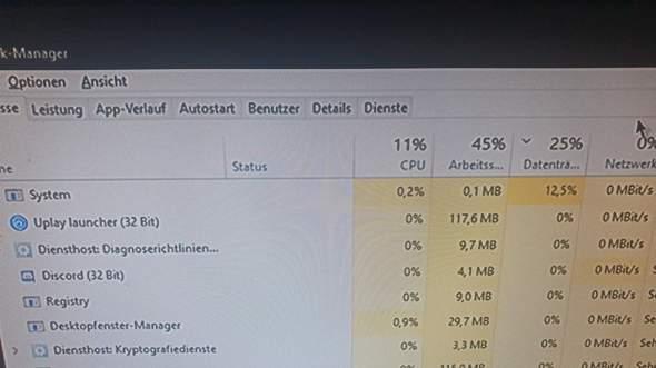 System lastet HDD komplett aus?