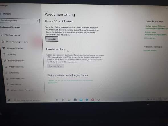 Win10 auf Win7 zurücksetzen - Asus A53S?