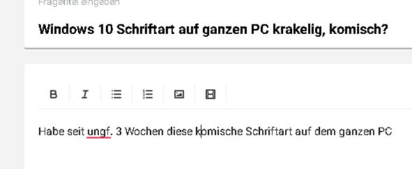 Windows 10 Schriftart auf ganzen PC krakelig, komisch?