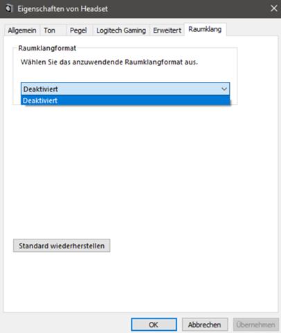 Windows Sonic Spatial Audio nicht verfügbar?