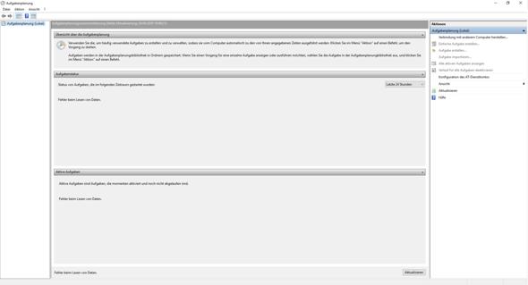 Windows Aufgabenplanung Funktioniert nicht mehr?
