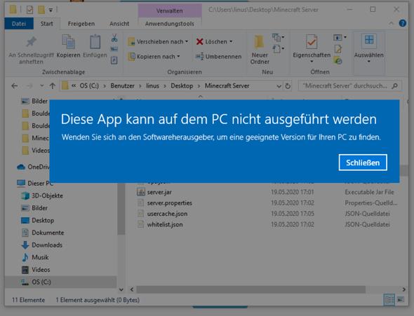 .bat Dateien lassen sich nicht ausführen (Windows 10)?