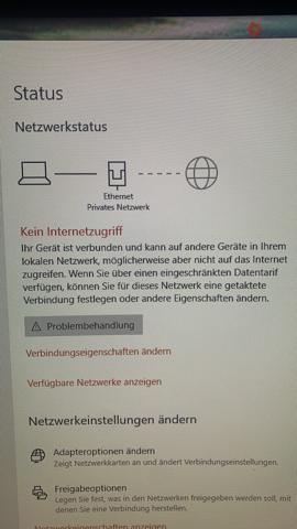 Anscheinend Netzwerk: kein Internet!?