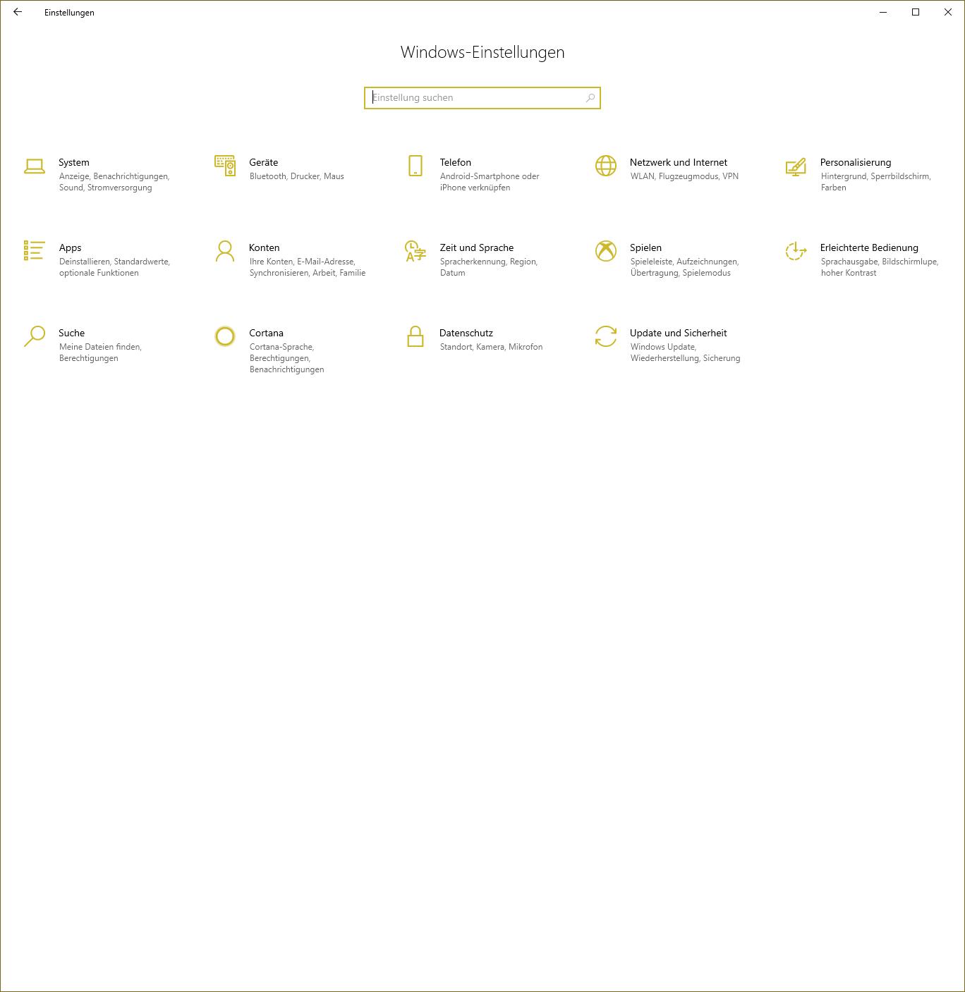 Windows 10 - zwei verschiedene Startseiten bei den Einstellungen - wie kann ich diese...