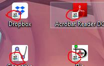 Icon an allen Desktop Verknüpfungen