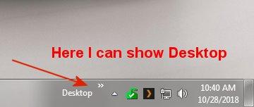 Desktop auf der Taskleiste anzeigen