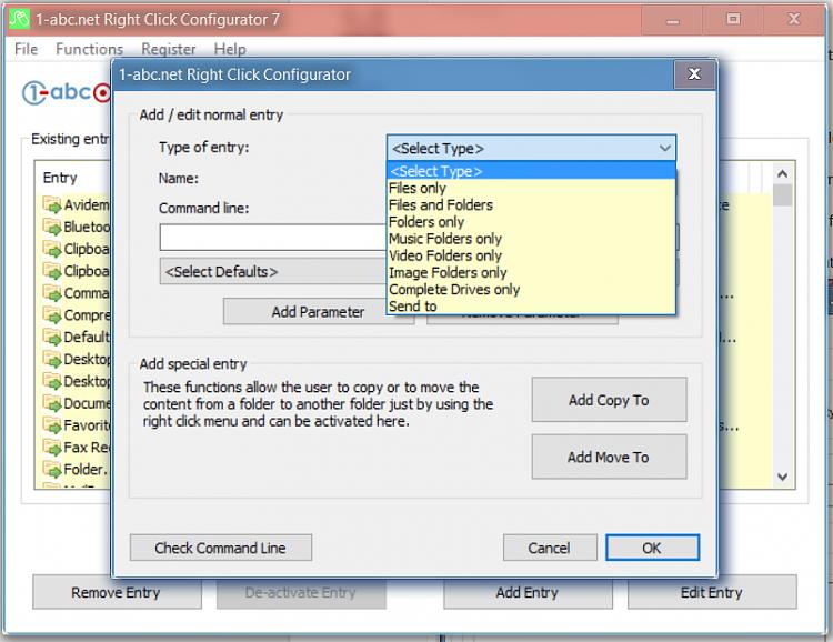 Verschieben Sie Dateien über das Kontextmenü in einen benutzerdefinierten Unterordner.