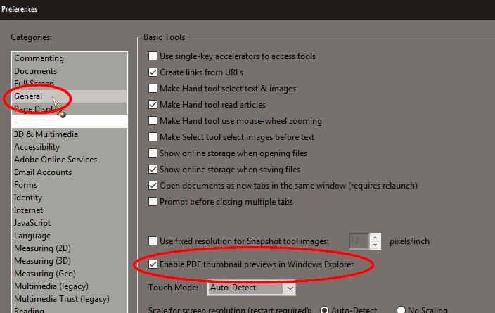 PDF-Miniaturansichten im Windows Explorer - verfügbar in Windows 10S???