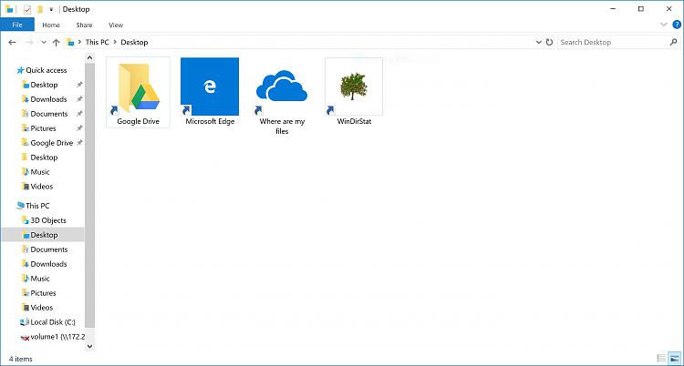 """Ist es sicher, die Symbole """"Wo sind meine Dateien"""" zu löschen?  Und wie?"""