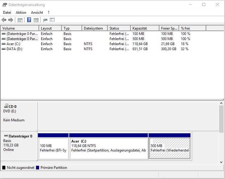 Windows Update: Systempartition konnte nicht aktualisiert werden