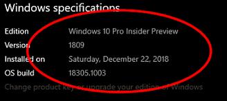 Problem mit Windows 10 Version 1809 Ordnernamensvergabe