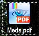 Weißer Rand auf den Desktop-Symbolen