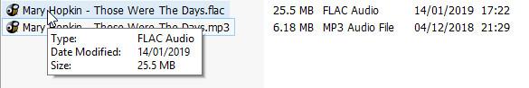 Keine Popups für FLAC-Dateien