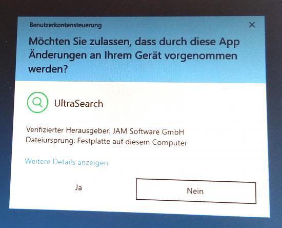 Benutzerkontensteuerung: Anwendung benötigt jedesmal Zulassung