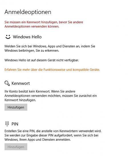 Benutzername/Kennwort Zugriff von Android Gerät