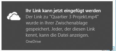 One Drive Link funktioniert nicht