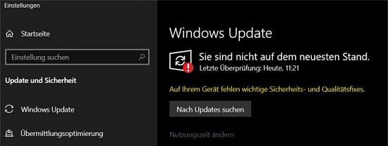 Updates lassen sich nicht runter laden  Win 10