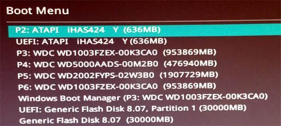 Rechner von Notfall-Stick oder Notfall-CD starten