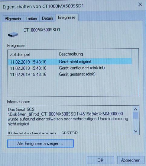 SSD wird nach Migration von HDD nicht als SSD akzeptiert